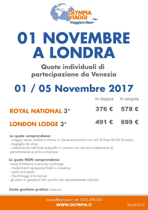 01 Novembre a Londra