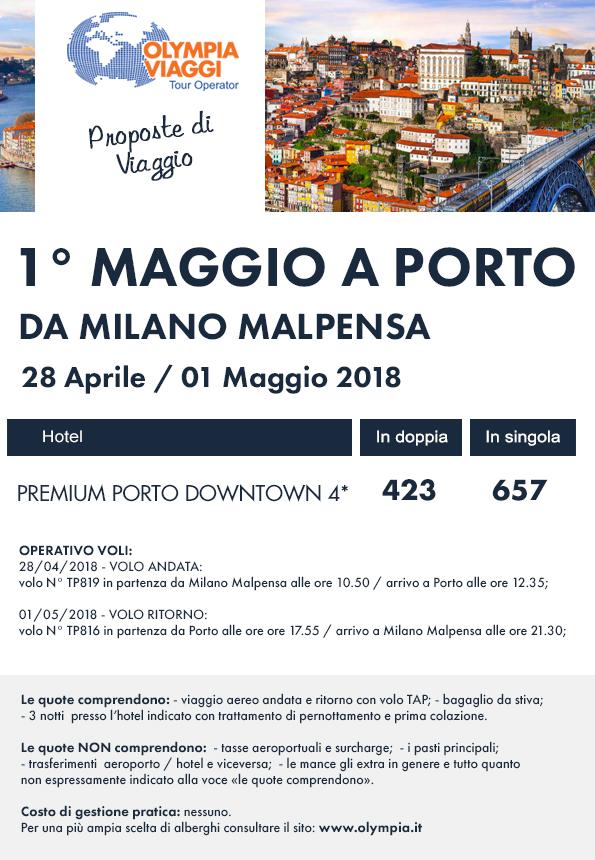1° Maggio a Porto da Milano Malpensa