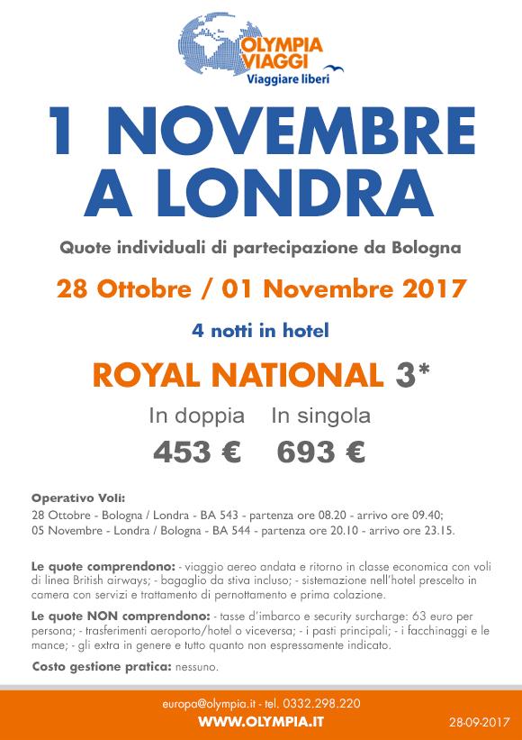 1° Novembre a Londra