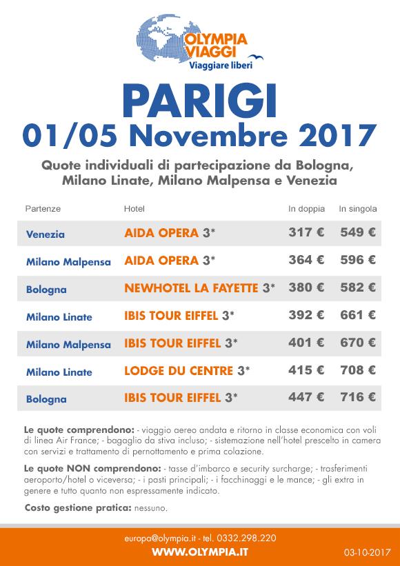 1° Novembre a Parigi