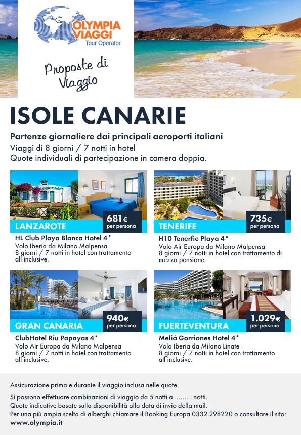 Proposte di Viaggio, offerte speciali mare Isole Canarie