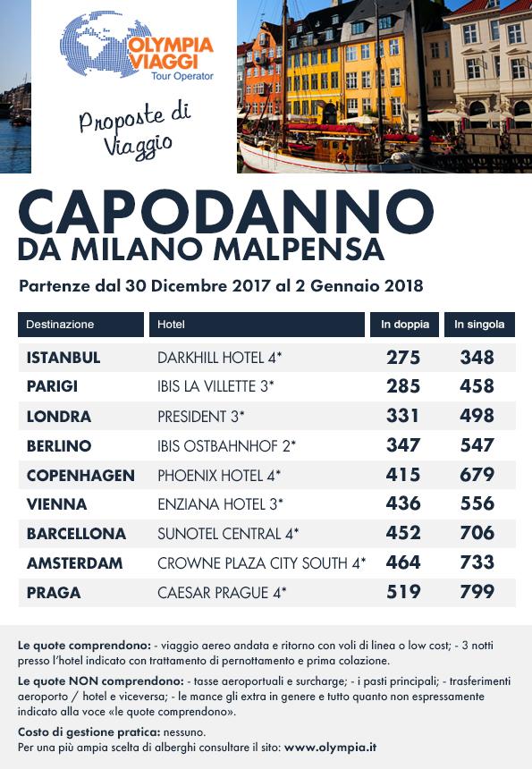 Capodanno da Milano Malpensa