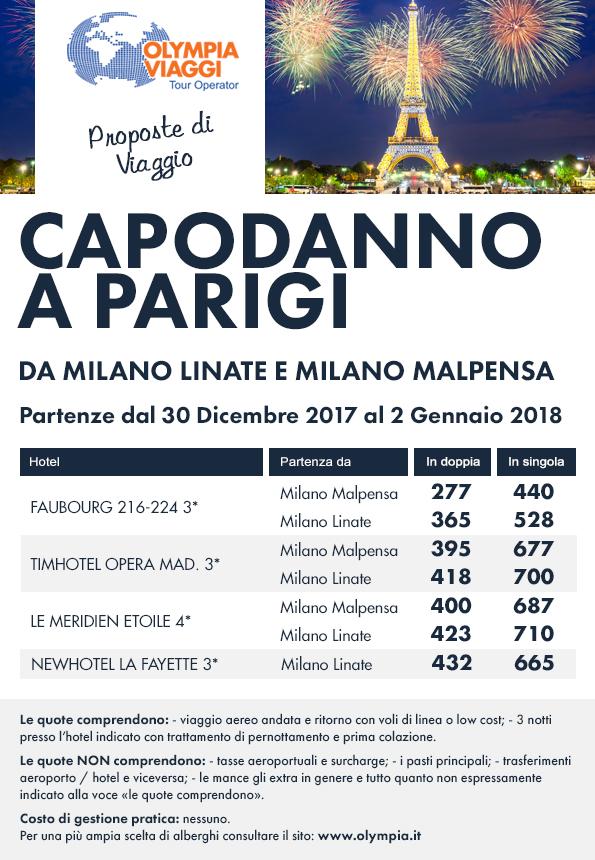 Capodanno a Parigi da Milano