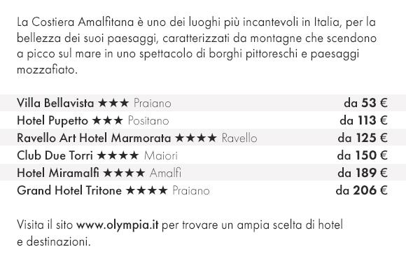 Prenota la Costiera Amalfitana con Olympia Viaggi per le Tue prossime vacanze!