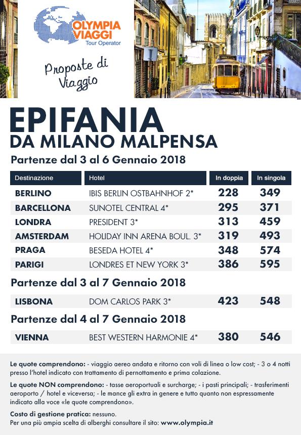 Epifania da Milano Malpensa
