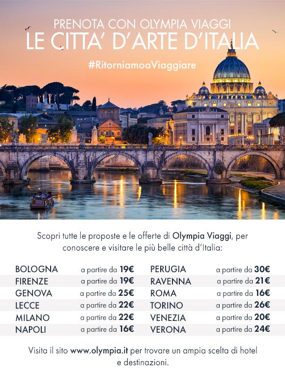 Prenota con Olympia Viaggi le città d'arte d'Italia per le tue vacanze!
