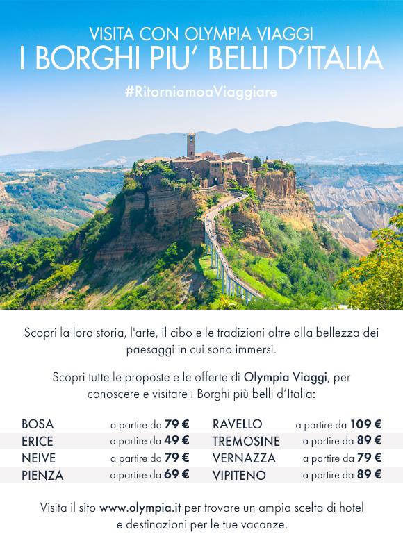 Visita con Olympia Viaggi i Borghi più belli d'Italia!