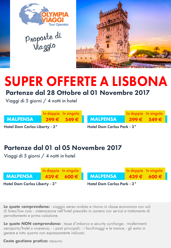 Proposte di Viaggio, Super Offerte a Lisbona