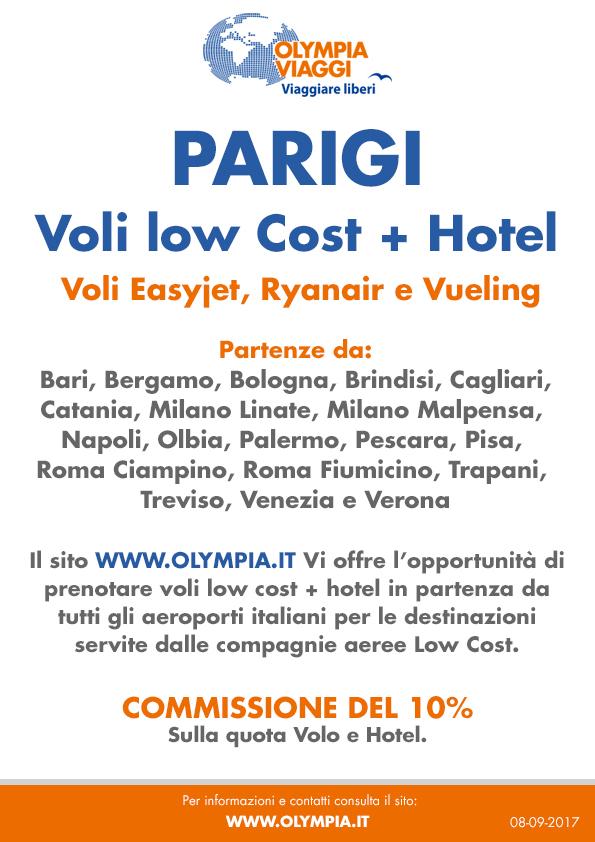 Volo low cost + hotel a Parigi