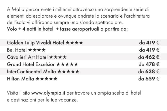 Scopri Malta con Olympia Viaggi e prenota i nostri migliori hotel!