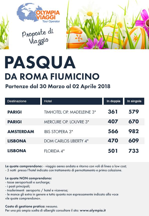 Pasqua da Roma Fiumicino
