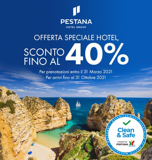 Offerta speciale hotel con Pestana Hotels & Resorts, sconti fino al 40%!