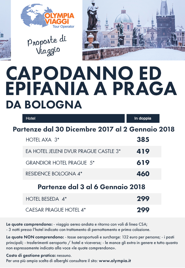 Capodanno ed Epifania a Praga partenze da Bologna