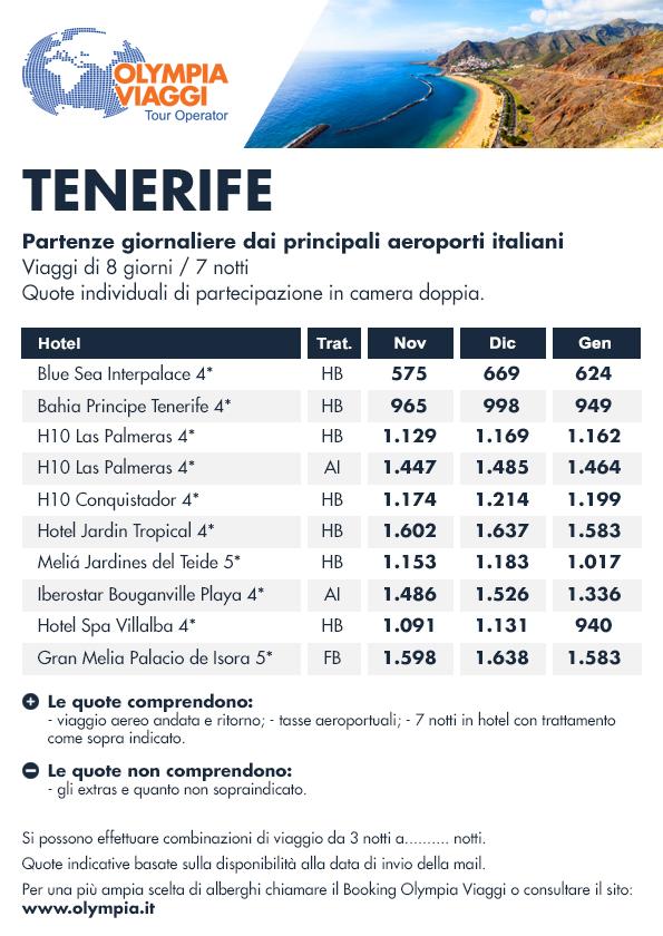 Speciale mare Tenerife