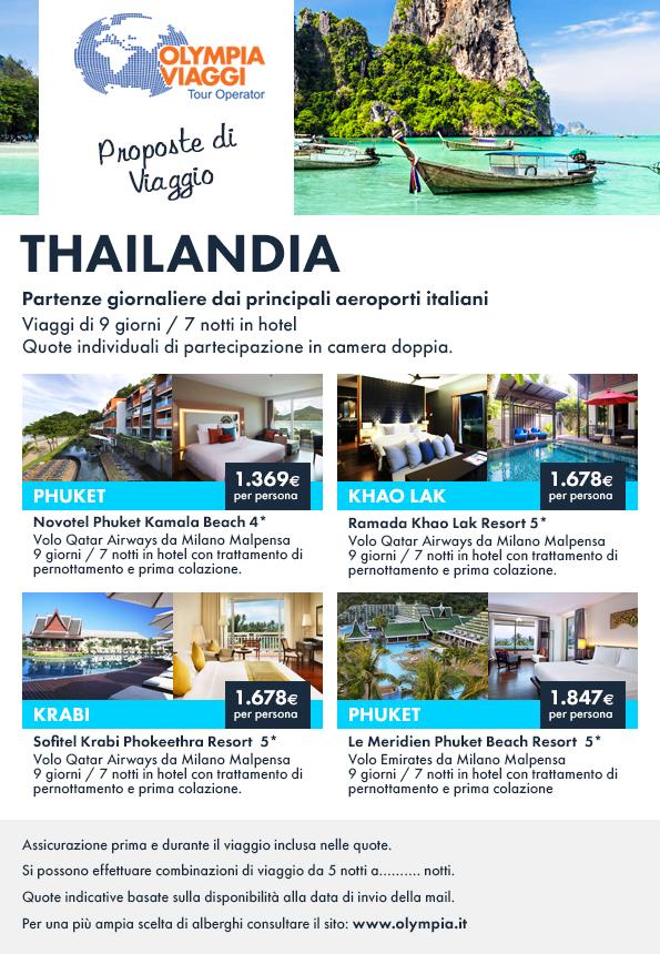 Proposte di Viaggio, offerte speciali mare Thailandia