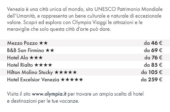 Scopri Venezia con Olympia Viaggi e prenota i nostri migliori hotel!